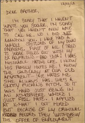 Tabatha Wood letter