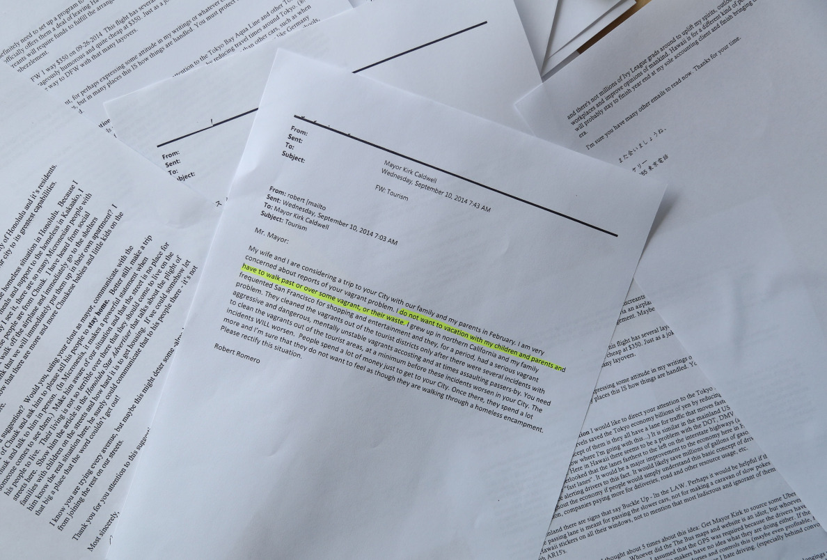 photograph of highlighted letters per richard's request.  STORY BY SOPHIE.  18 nov. 2014. photo CORY LUM.