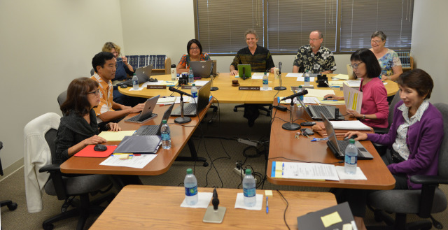 Meeting held at the Hawaii State Ethics Commission Conference Room today.  19 nov 2014. photo Cory Lum.