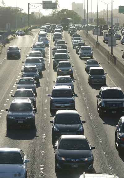 Commuters drive in morning traffic.  17 nov 2014. photograph Cory Lum.