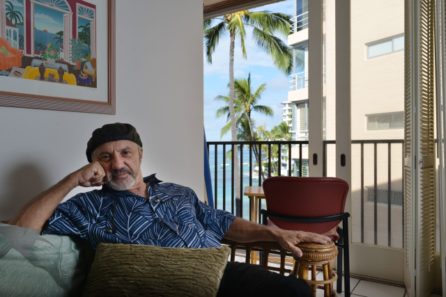 Sonny Silva sits in his 350-square foot rental apartent unit located at 2987 Kalakaua Avenue. Honolulu, Hawaii. 13 november 2014. photograph by Cory Lum. for Eric Pape's story.