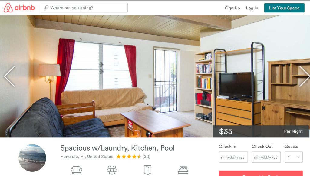 Airbnb ad Honolulu