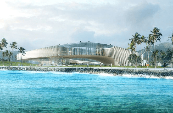 Obama library rendering