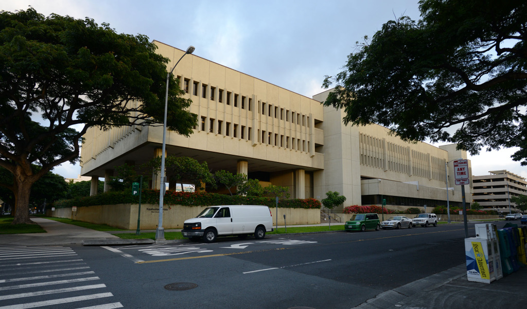 First Circuit Court Building located at 777 Punchbowl street. 15 dec. 2014. photograph Cory Lum