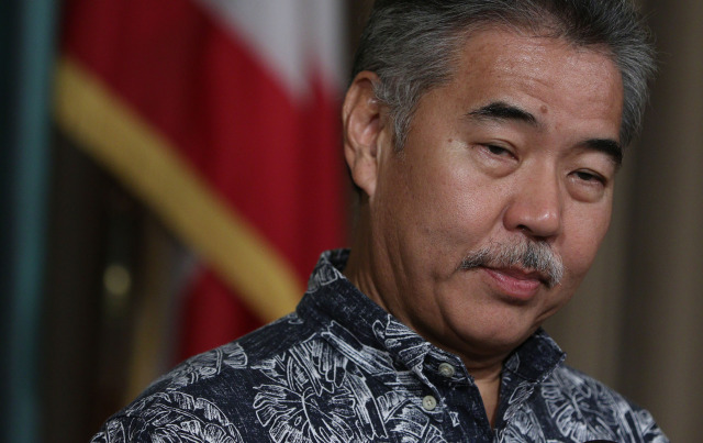 Governor David Ige gives press conference about his budget.  22dec2014. photograph Cory Lum/Civil Beat