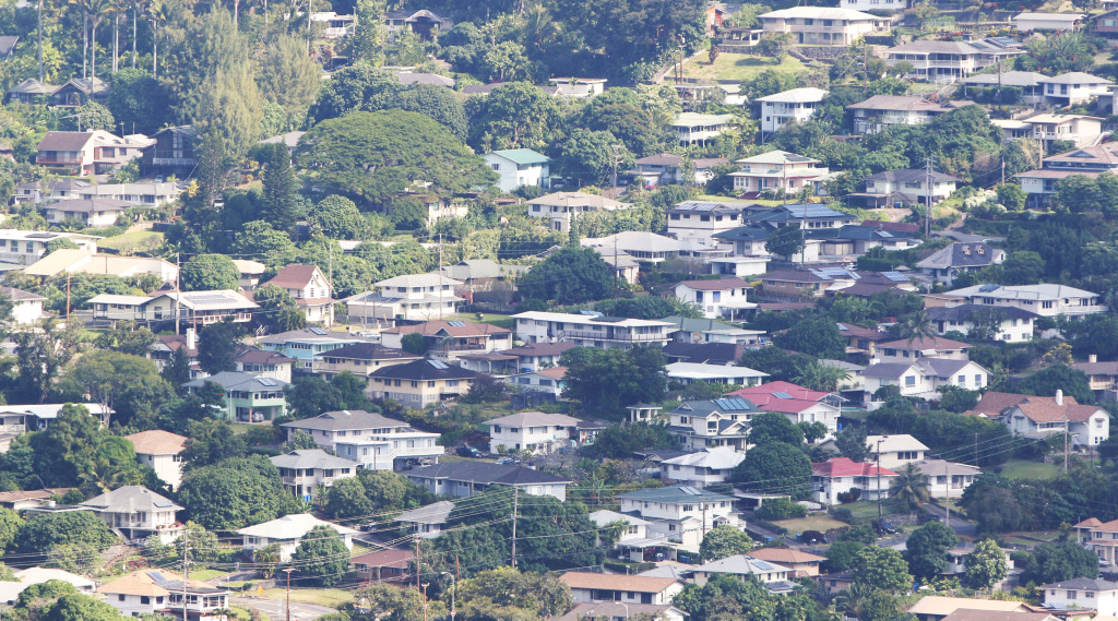 View of homes in upper Manoa.  9 dec 2014. photograph Cory Lum