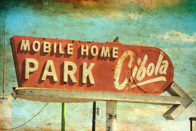 Mobile Home Park sign