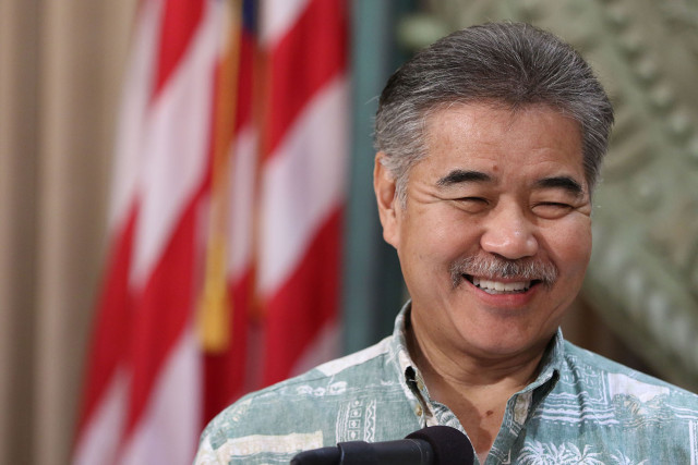 Governor David Ige holds press conference at Capitol.  12 feb 2015. photograph Cory Lum/Civil Beat