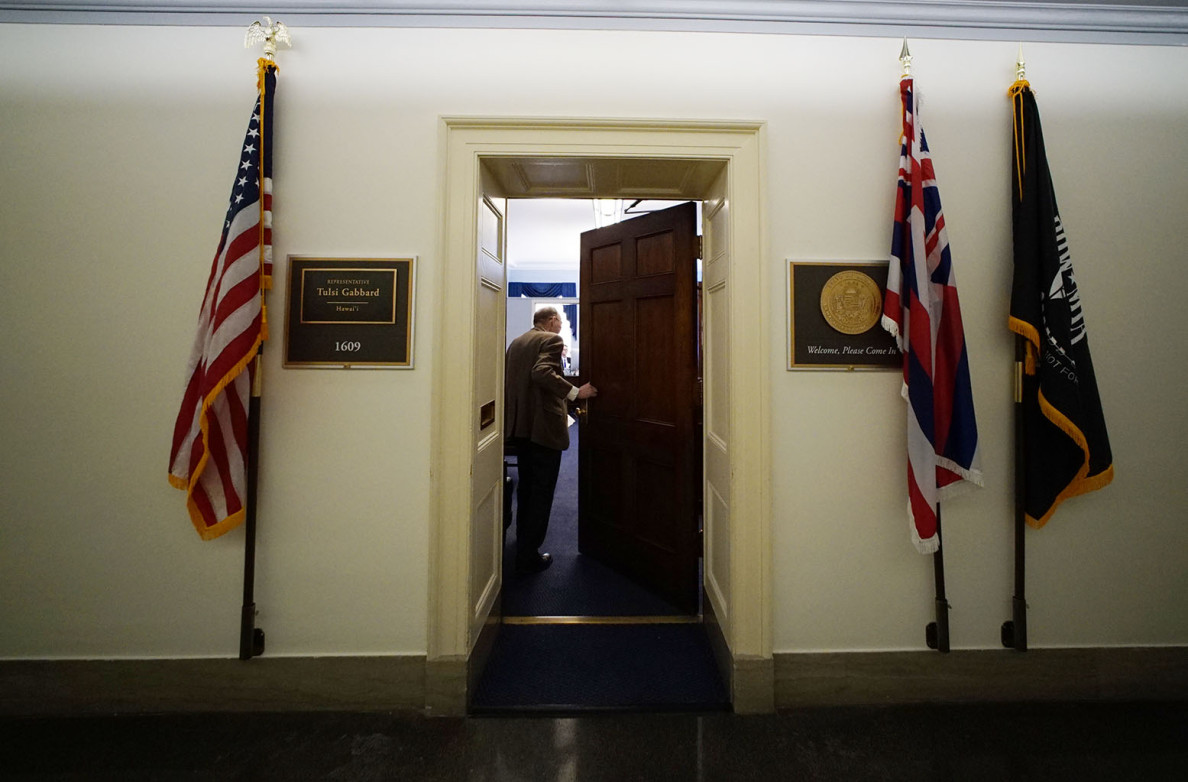 Representative Tulsi Gabbard's office . 24 feb 2015. photograph Cory Lum/Civil Beat