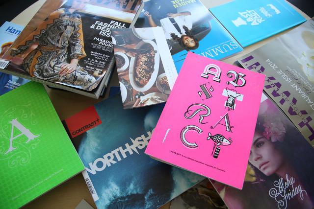Magazines for James Cave. photograph Cory Lum/Civil Beat