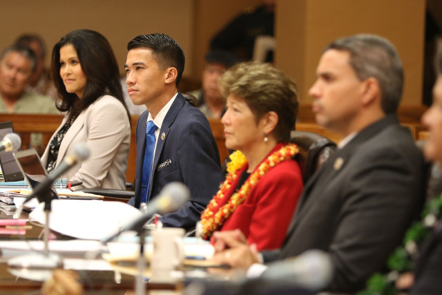 Honolulu City Council meets today. 18 feb 2015. photograph Cory Lum/Civil Beat