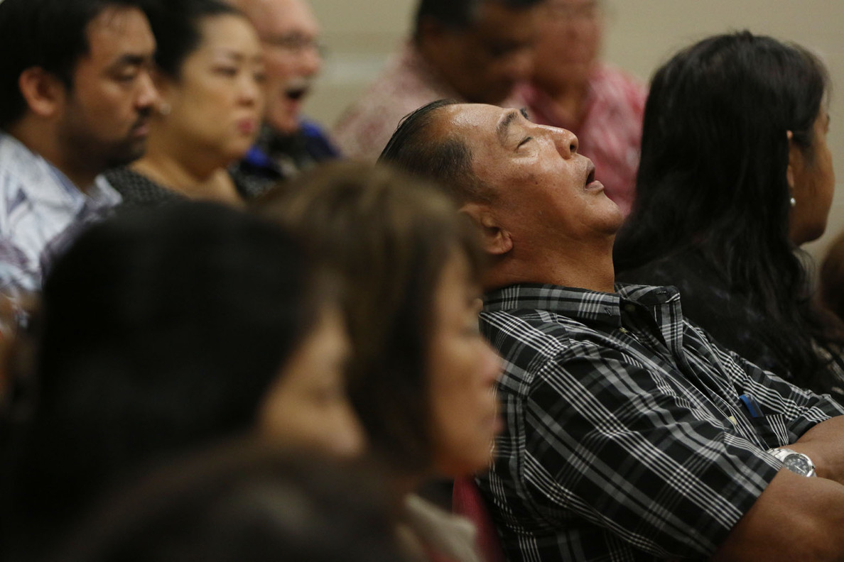A hearing on legislation affecting care homes turned into naptime for one attendee Tuesday.