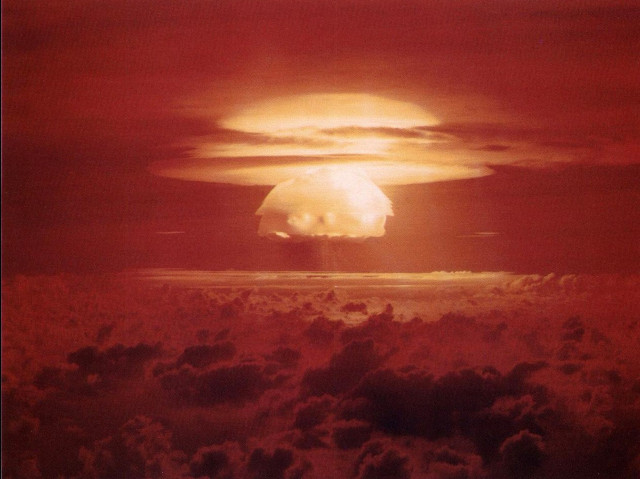 The Bikini Atoll nuclear test, Castle Bravo.