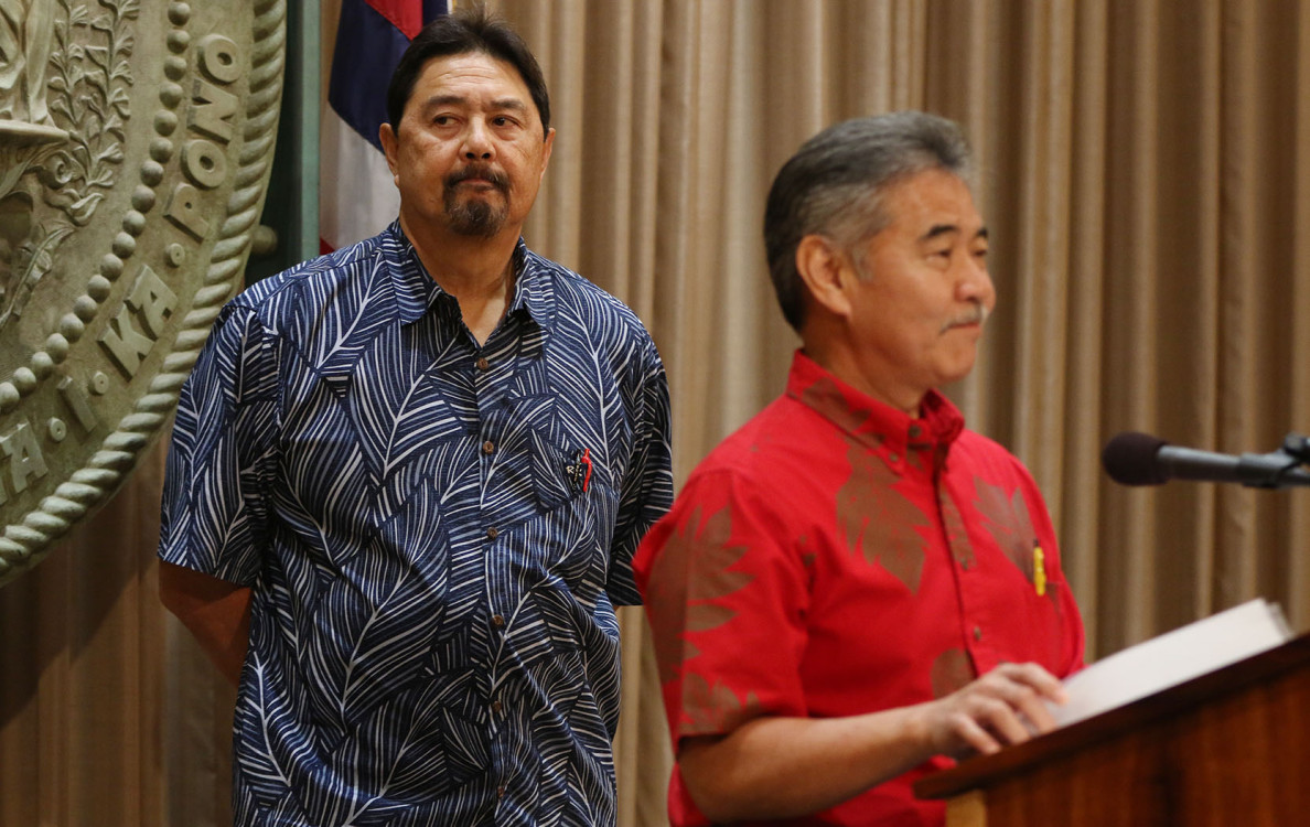After Ige spoke, Ching said he was looking to the future: 'We're not wounded by this. We move on as our ohana.'