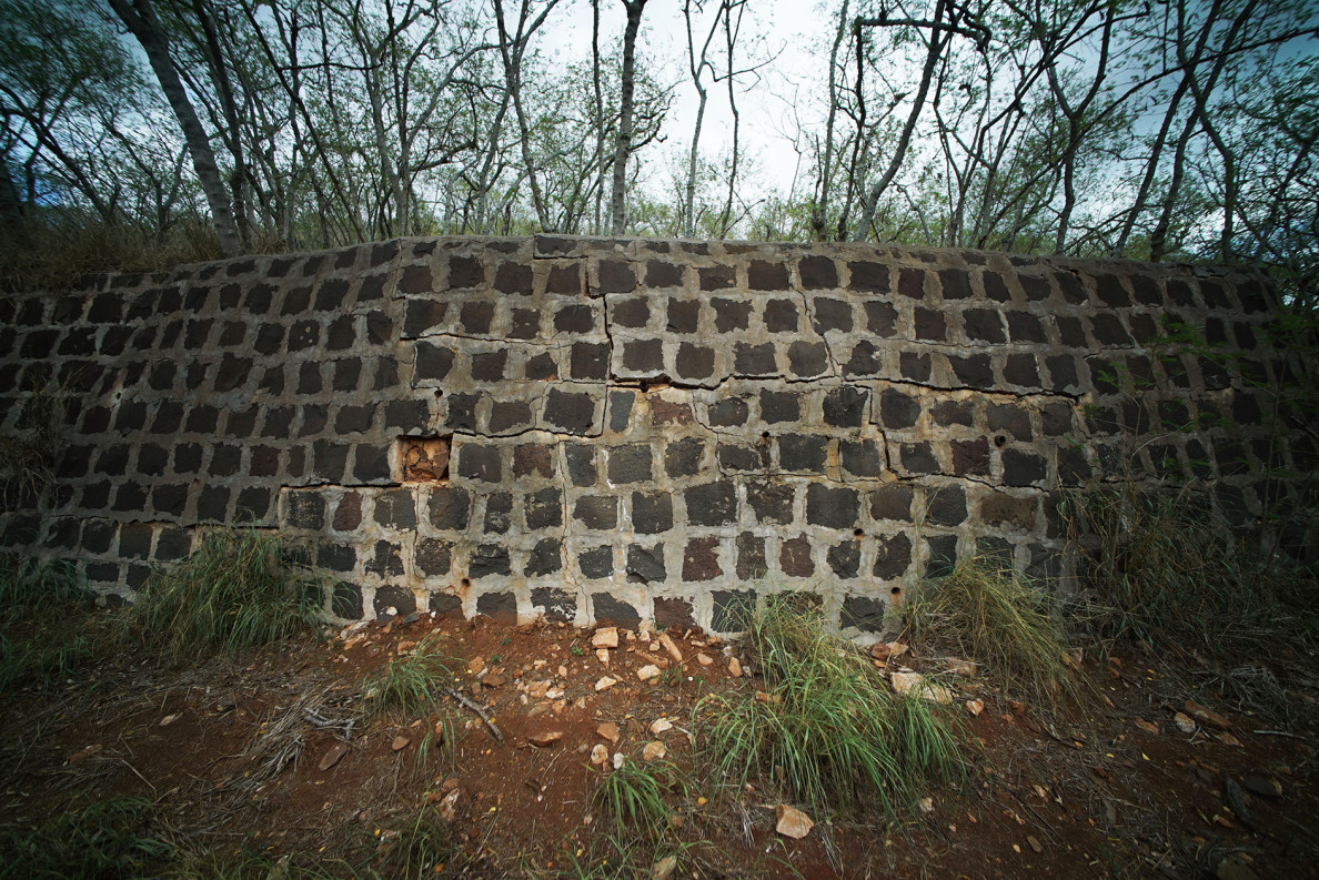 Walls near Honouliuli National Monument mark the site of Hawaii's largest internment camp during World War II.