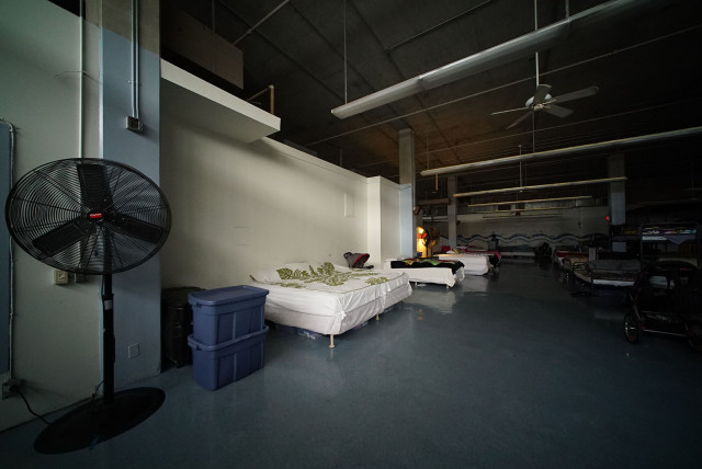 Institute of Human Services family area with beds. 11 march 2015. photograph Cory Lum/Civil Beat