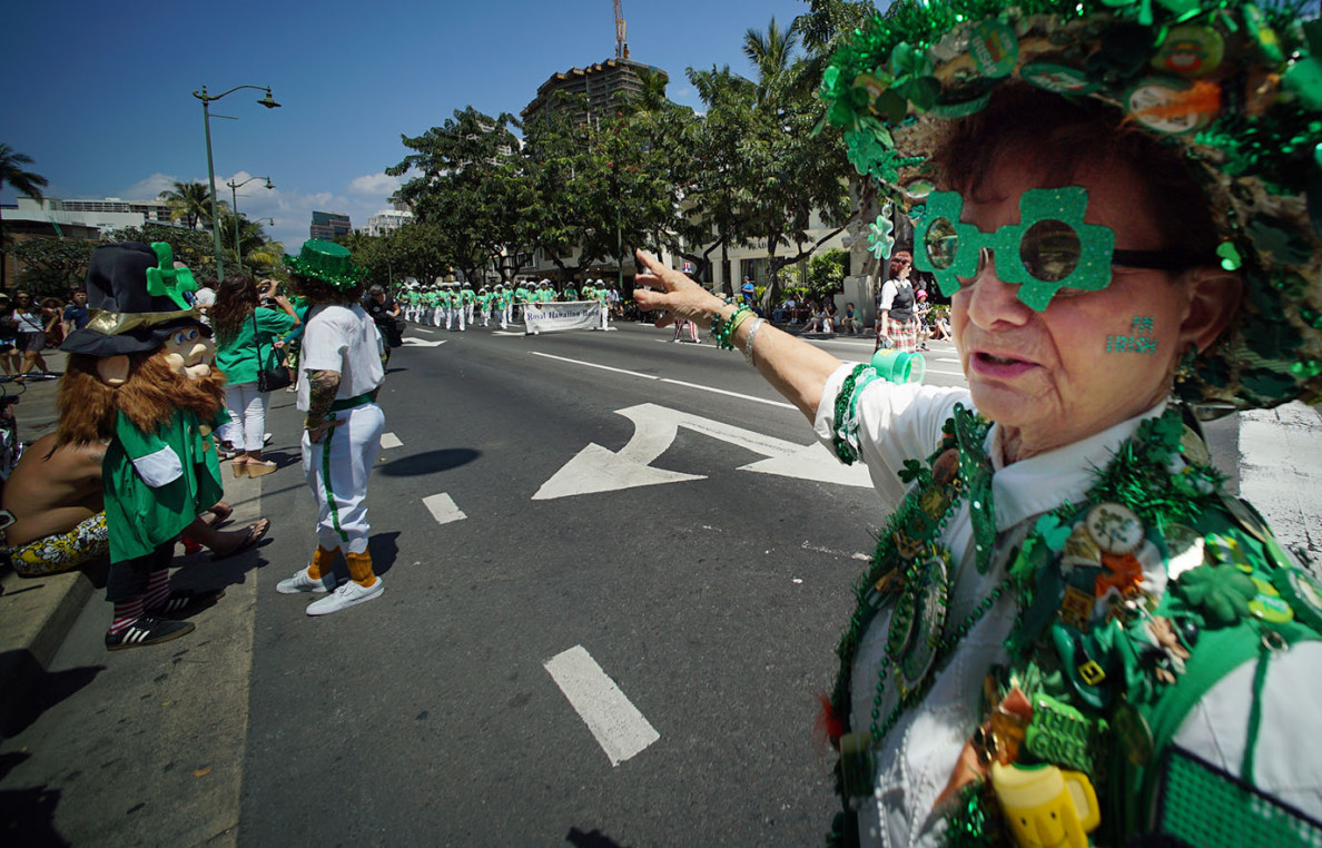 Terry Sullivan of Kapolei has been attending Honolulu's annual St. Patrick's Day parade for 30 years, and Tuesday was no exception.