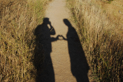 Young couple in shadows