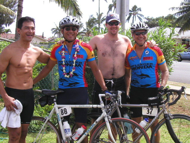 Connections - Paul Arinaga after a bike race in the islands