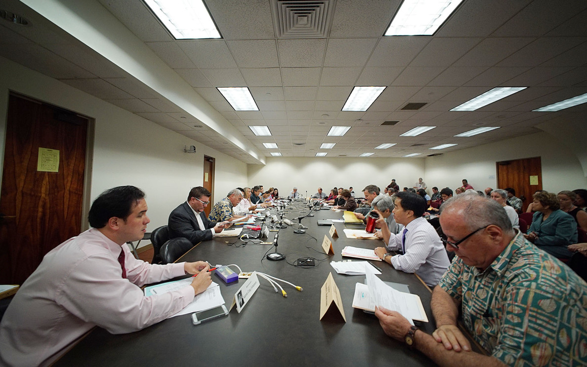 Differences in proposed education legislation are discussed during a conference committee meeting Wednesday.