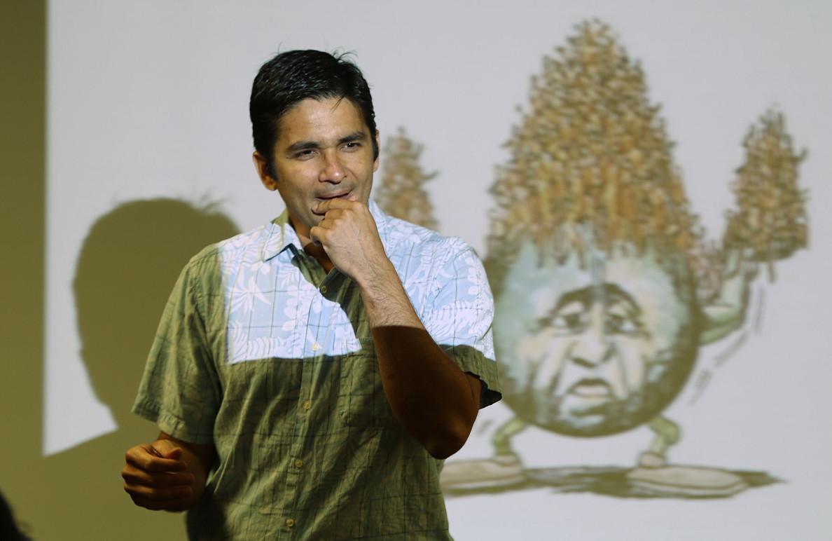 UH Manoa Professor Camilo Mora. 27 april 2015. photograph by Cory Lum/Civil Beat