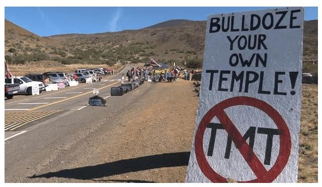 TMT Mauna Kea protest sign