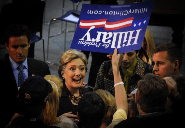 Hillary Clinton in 2008.