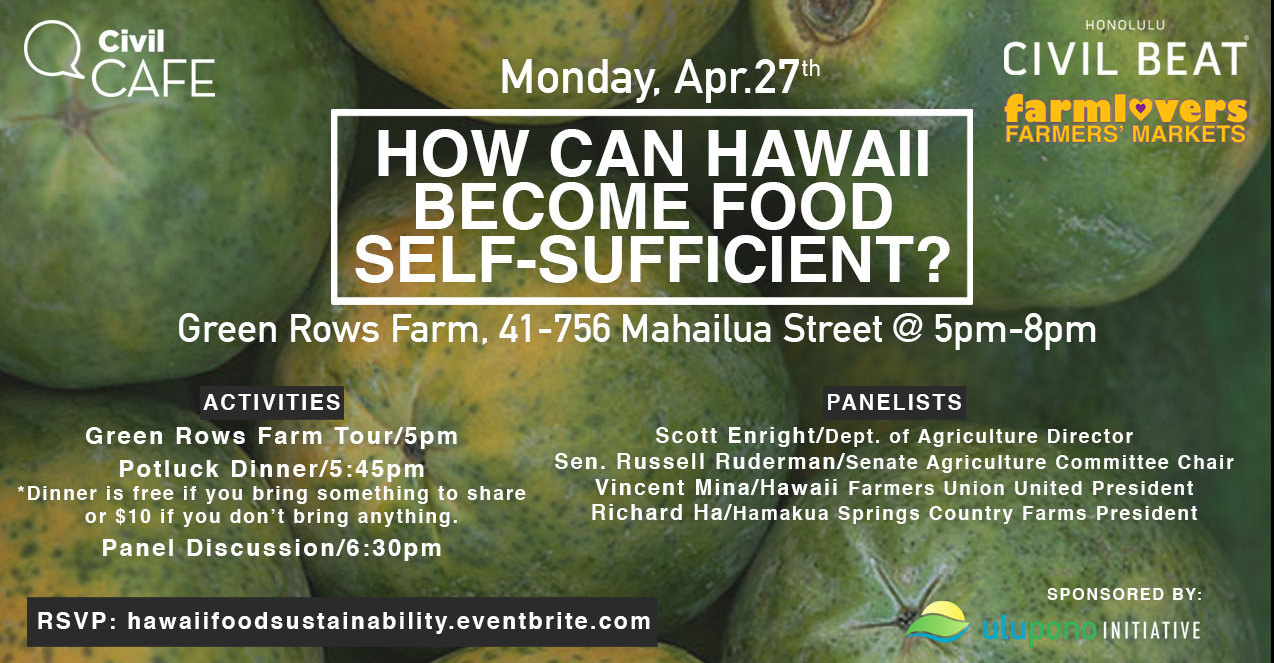 Civil Cafe: How Can Hawaii Become Food Self-Sufficient? banner