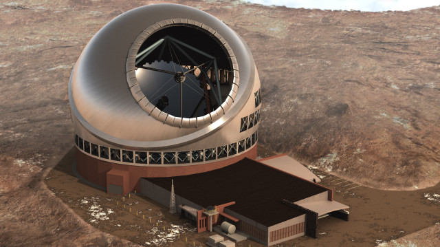 Thirty Meter Telescope Mauna Kea top view