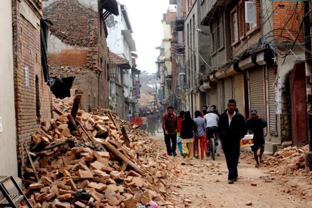 Nepal earthquake damage April 2015