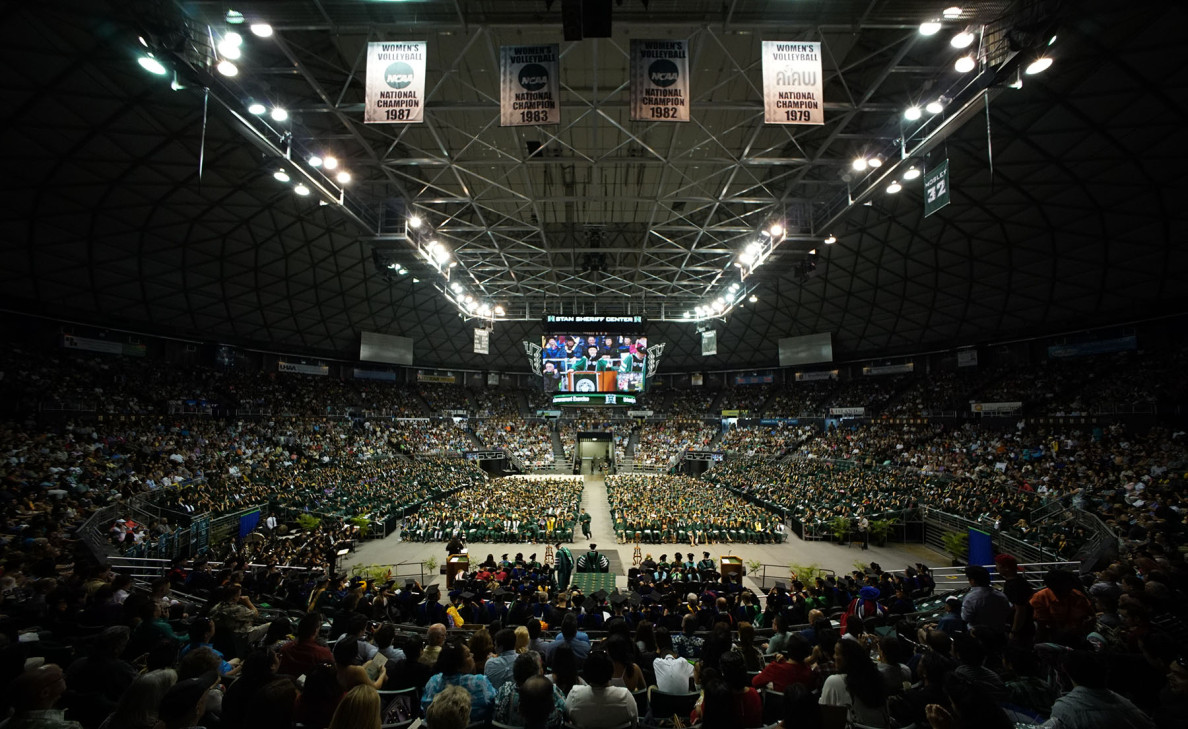The Stan Sheriff Center was the place to be Saturday, May 16, as members of the University of Hawaii, Manoa, Class of '15 graduated.