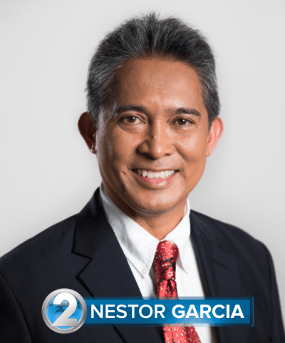 KHON reporter Nestor Garcia in a 2011 photograph toward the end of his decade-long tenure on the Honolulu City Council.