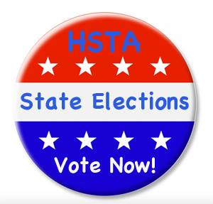 Hawaii State Teachers Association union elections badge