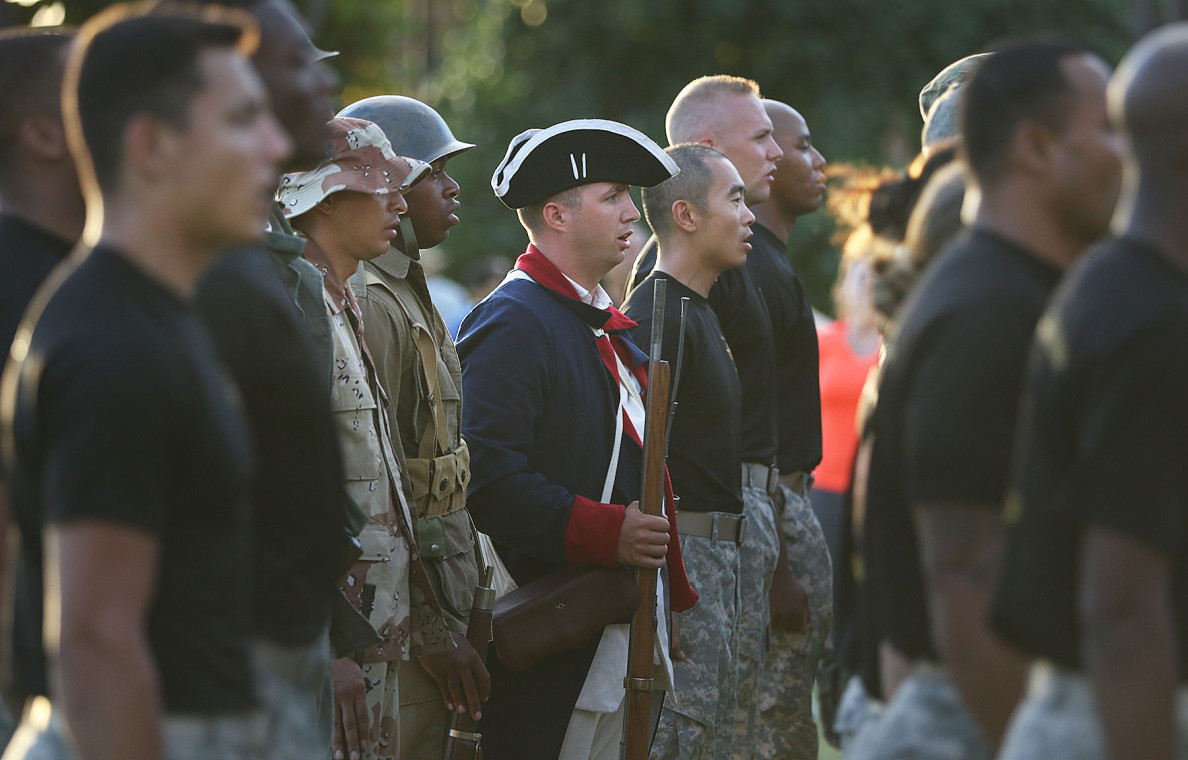 Participants in the Legacy of Honor program donned costumes going back to the earliest days of the Army's existence.