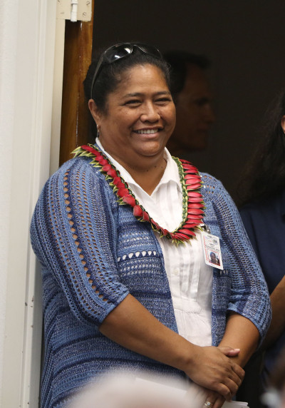 Newly appointed DOE Hawaiian Language head Dr. Dawn Sang.  28 june 2015. photograph Cory Lum/Civil Beat