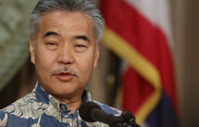 Governor David Ige during press conference announcing several bills that he will veto. 29 june 2015. photograph by Cory Lum/Civil Beat