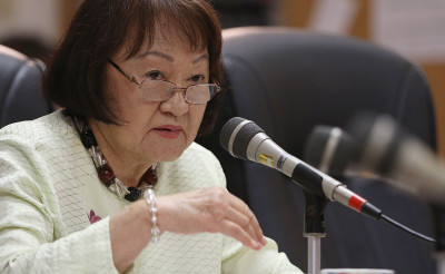 Honolulu City Councilmember Ann Kobayashi listens to testimony in Committee on Zoning and Planning. 15 june 2015. photograph Cory Lum/Civil Beat