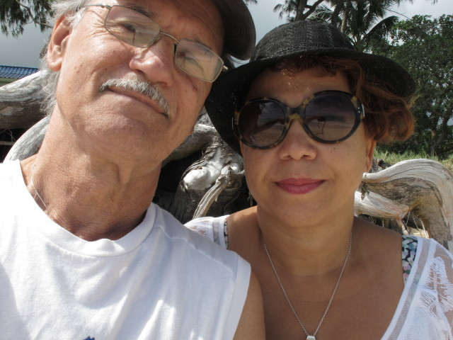 Rod Todorovich and his wife Sueli in Waimanalo in 2014