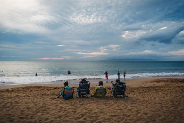 This idyllic image of the coast at Kihei belies the transformation taking place of this once sleepy along Maui's south coast.