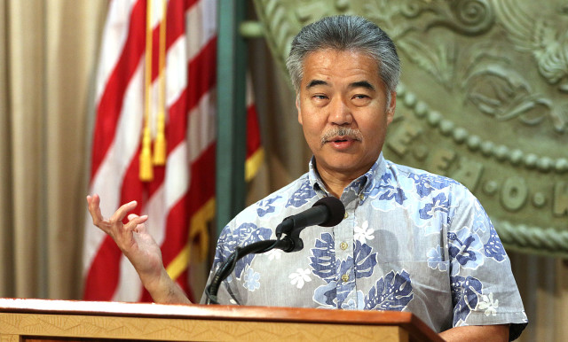 Governor David Ige gives press conference regarding Nextera merger.  21 july 2015. photograph by Cory Lum/Civil Beat