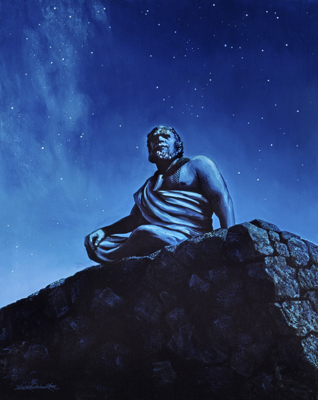 ONE TIME ONLY PUBLISHING RIGHTS - Herb Kane's painting, the Navigator on Observatory