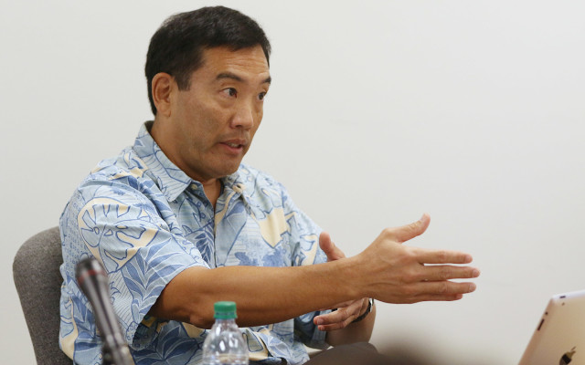 Ethics Commission Executive Director Les Kondo. 22 july 2015. photograph by Cory Lum/Civil Beat