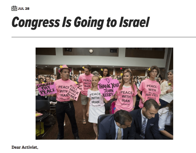 Code Pink website on Iran deal