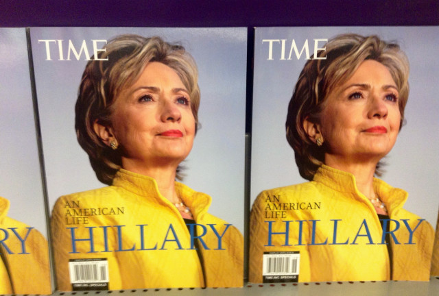 Hillary Clinton has no problem with name familiarity. She was on the cover of Time magazine in August 2014.