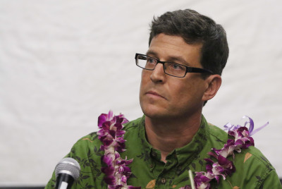 David Henkin, Staff Attorney for the Mid-Pacific Regional Office of Earthjustice speaks during Civil Beat's Civil Cafe - Are We Overfishing Hawaii Waters. 25 aug 2015. photograph Cory Lum/Civil Beat