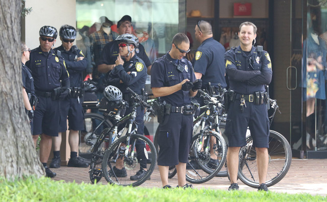 Honolulu Police Department Bicycling Detail before the Aloha Aina Unity March. 9 aug 2015. photograph by Cory Lum/Civil Beat