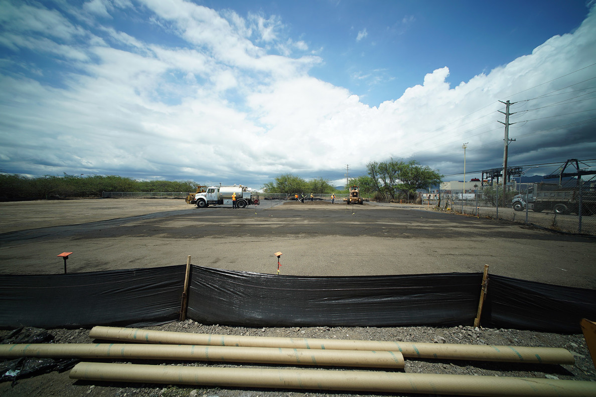 The delivery of soil is the latest step to prepare Hale Mauliola, a homeless shelter to be developed in three phases that will ultimately serve up to 83 people in 25 modified cargo containers. The first nine containers are scheduled for delivery Oct. 30.