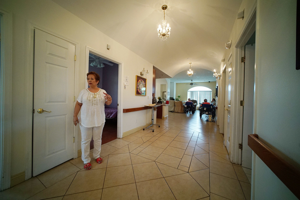 Hokulaki Senior Living LLC owner Myriam Tabaniag.  care home elderly. 14 aug 2015. photograph Cory Lum/Civil Beat