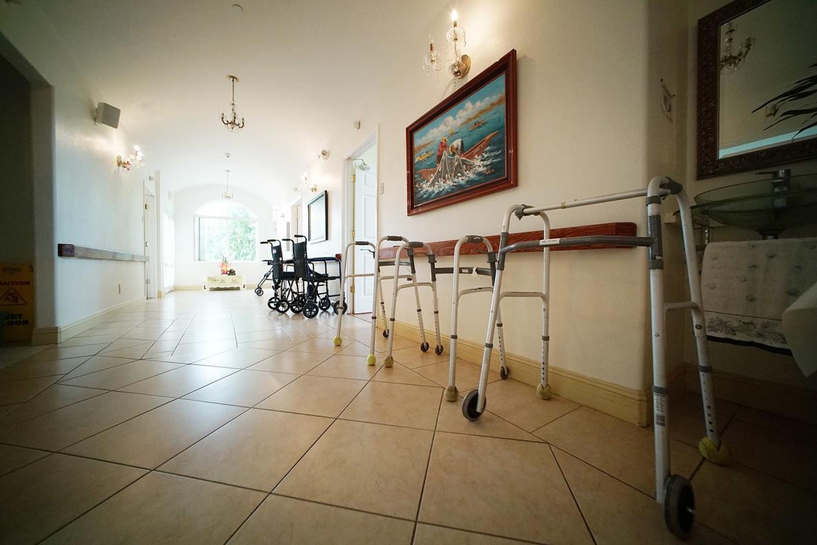 Hokulaki Senior Living LLC walkers and wheel chairs. care home elderly. 14 aug 2015. photograph Cory Lum/Civil Beat