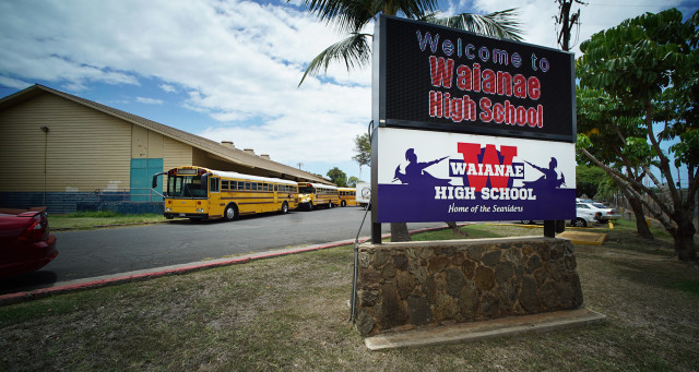 Waianae High School. 4 aug 2015. photograph Cory Lum/Civil Beat